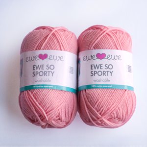 Ewe So Sporty yarn in Cotton Candy