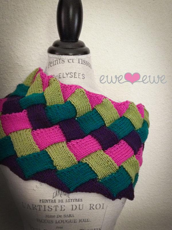Interlooped Entrelac Cowl Pdf Knitting Pattern Ewe Ewe Yarns