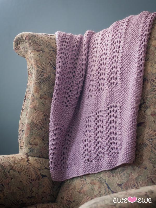 Wavy Baby Blanket Pdf Knitting Pattern Ewe Ewe Yarns