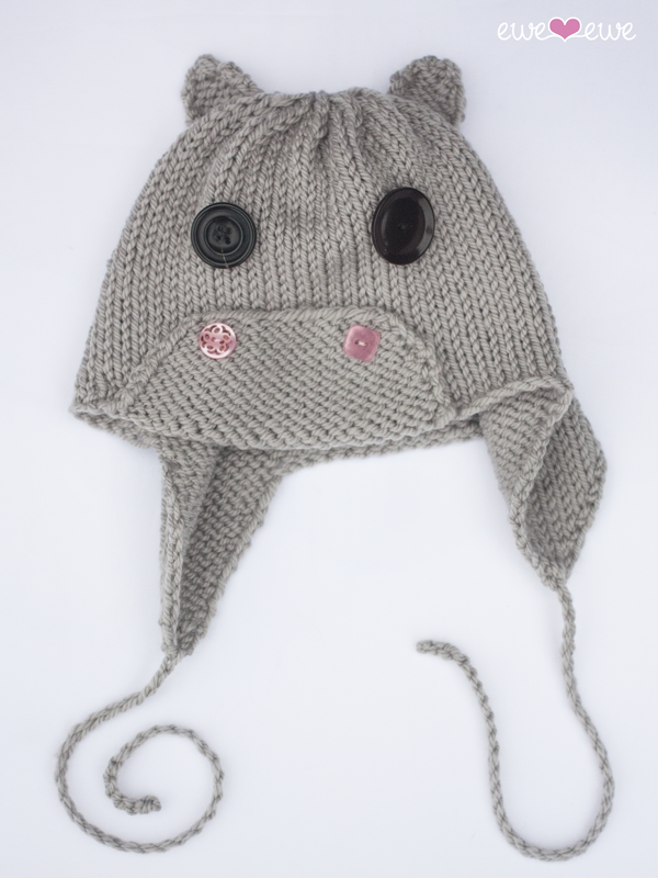 Hippo Hat PDF Knitting Pattern — Ewe Ewe Yarns