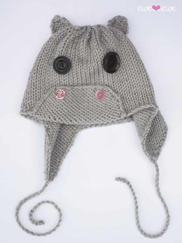Hippo Hat PDF Knitting Pattern — Ewe Ewe Yarns ae3a62c7107f