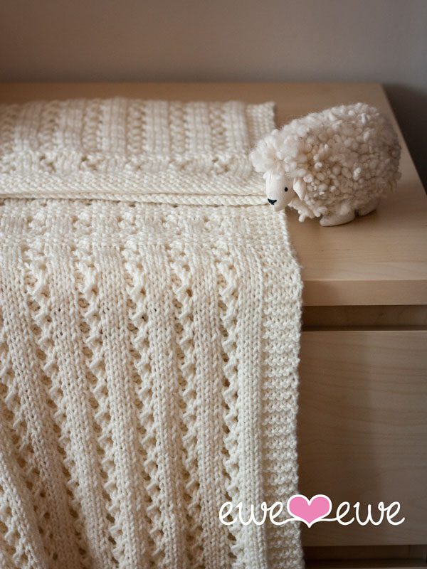 Sweet Pea Baby Blanket PDF Knitting Pattern — Ewe Ewe Yarns