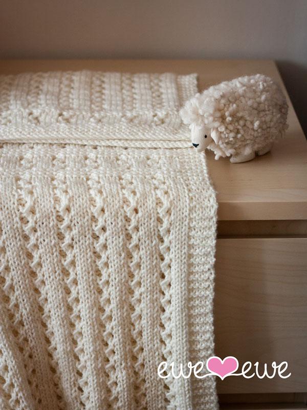 Sweet Pea Baby Blanket Pdf Knitting Pattern Ewe Ewe Yarns