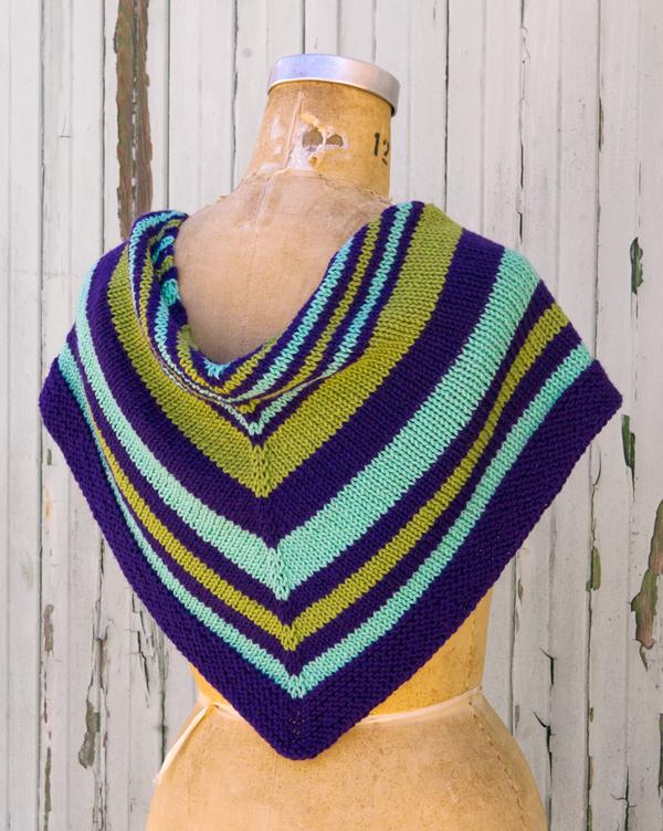 Saturday Stripes Shawl PDF Knitting Pattern — Ewe Ewe Yarns