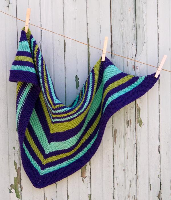 Saturday Stripes Shawl Pdf Knitting Pattern Ewe Ewe Yarns