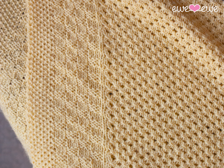 Weekly Featured Pattern Buttercup Baby Blanket Ewe Ewe Yarns