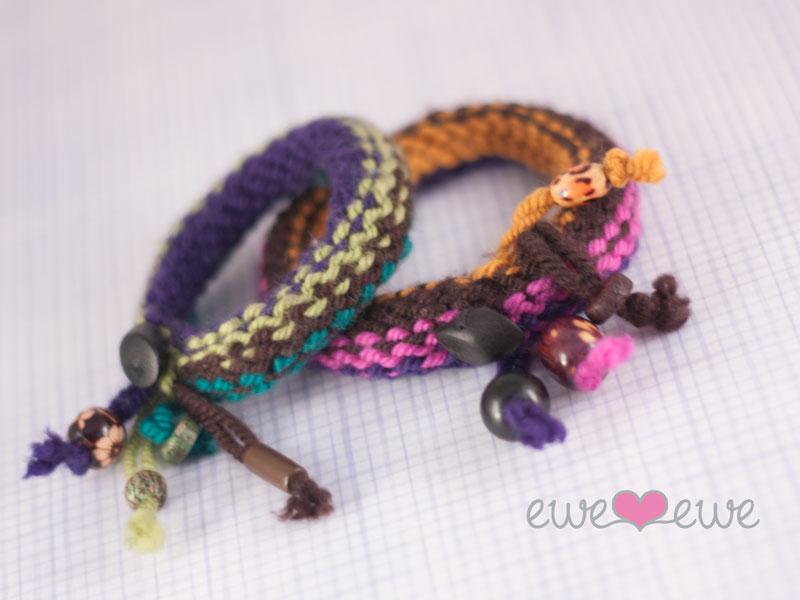 Knitship Bracelets free knitting pattern