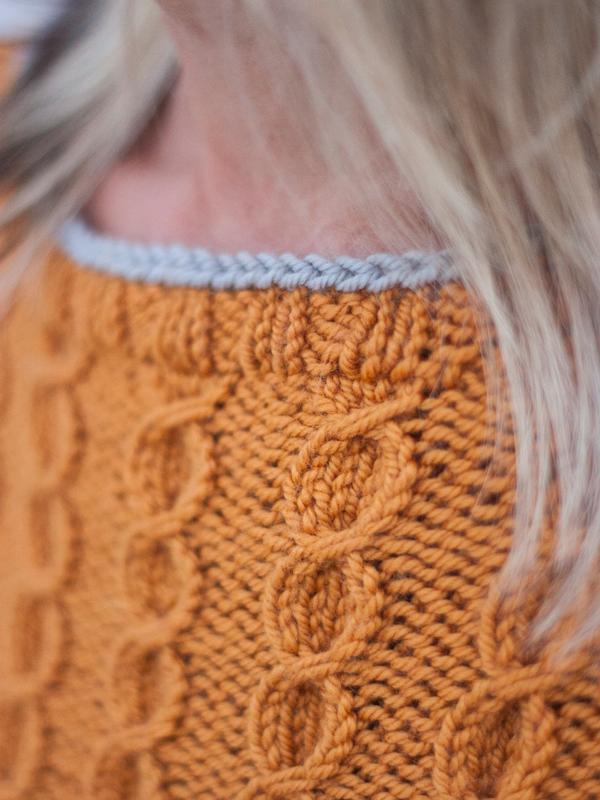 Not A Jersey Girl Cable Sweater Pdf Knitting Pattern Ewe Ewe Yarns