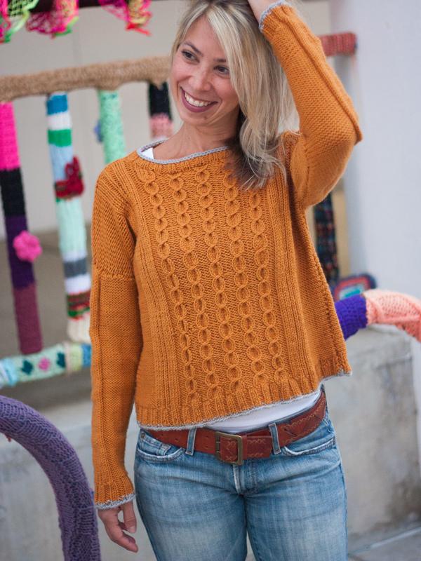 13b132cad Not A Jersey Girl Cable Sweater PDF Knitting Pattern — Ewe Ewe Yarns