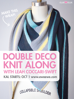 Knit with us! Join the Double Deco KAL starting October 1, 2014.