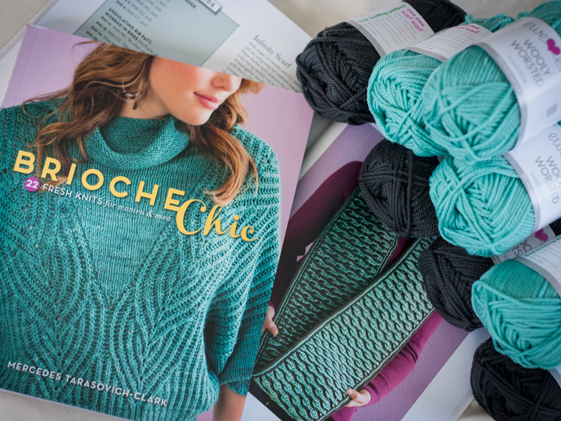 Brioche Chic book and Wooly Worsted yarn giveaway