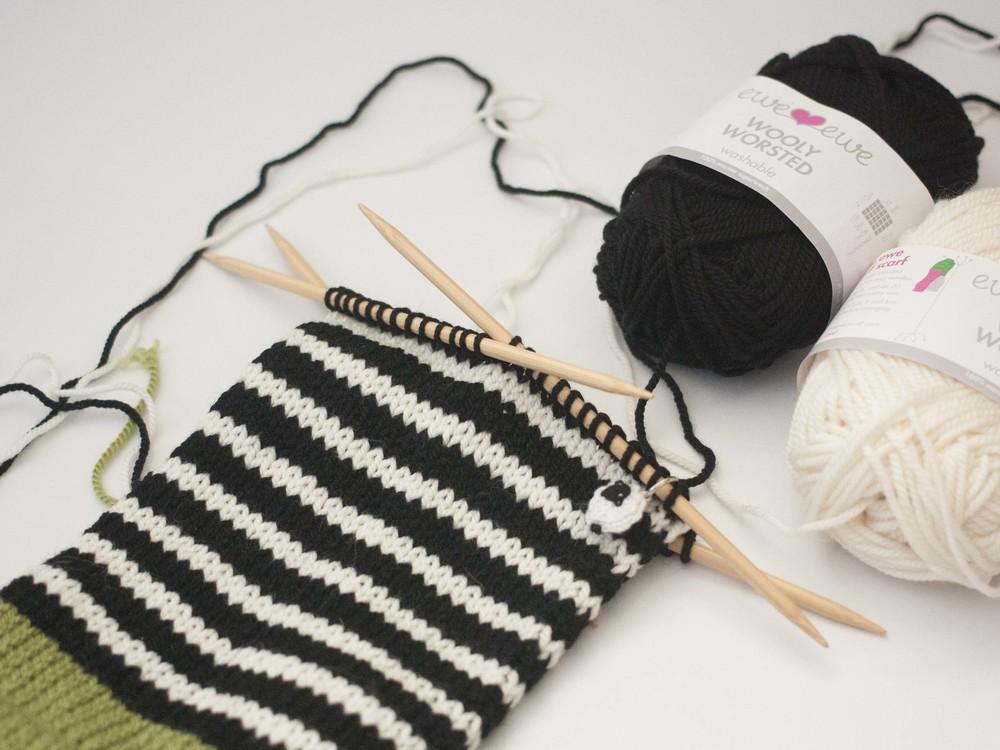 knitting stripes