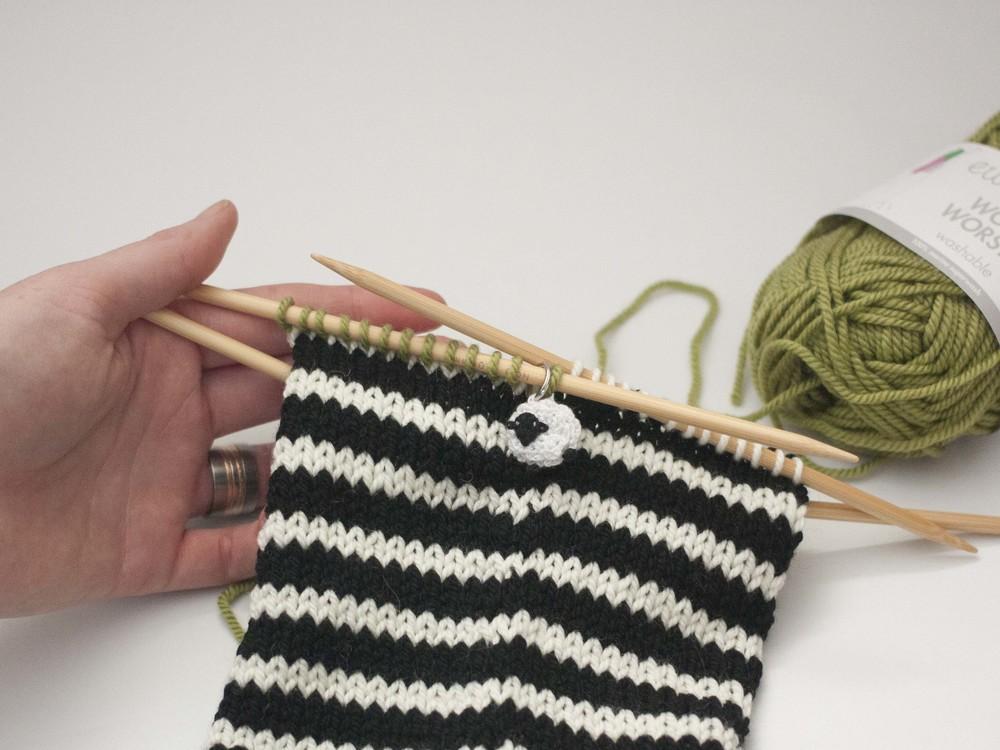 Knitting Picking Up Heel Stitches : Part 3: Turning the heel of the stocking   Ewe Ewe Yarns