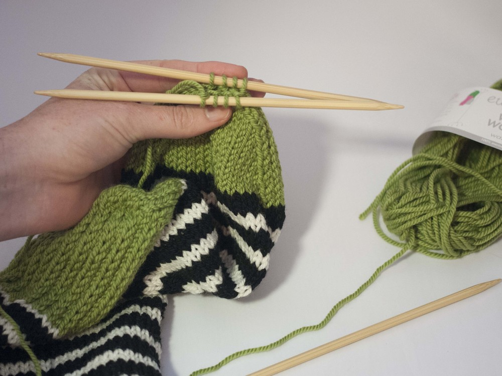 Preparing for Kitchener Stitch