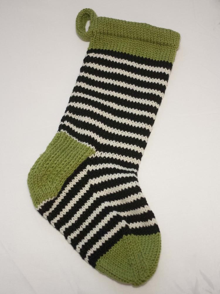 599b9493722 Part 5  Making the hang loop and blocking the stocking — Ewe Ewe Yarns