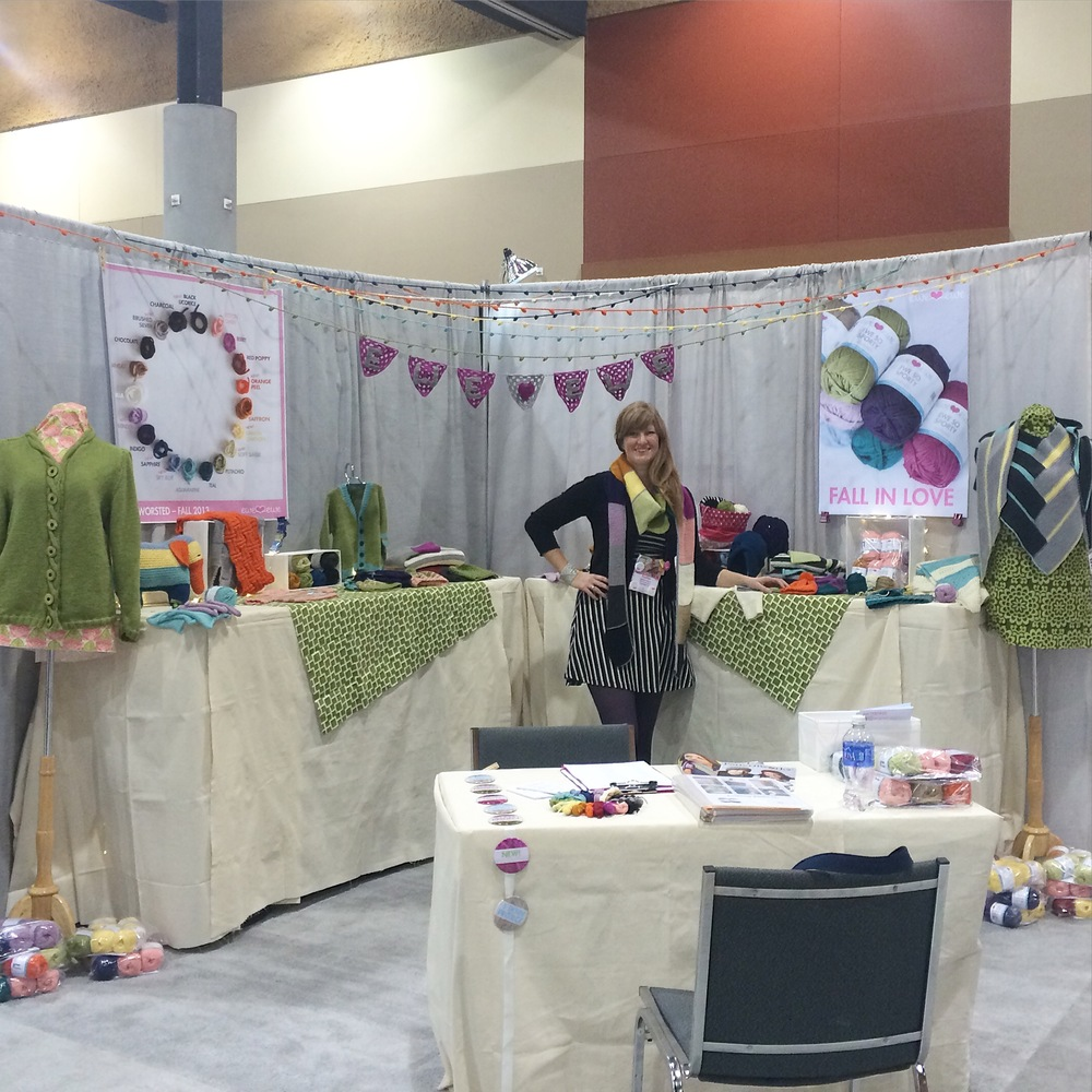 Ewe Ewe Yarns trade show booth