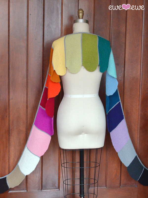 Rainbows & Unicorns shawl