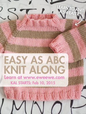 Knit with us! Baby sweater knit along! Join today >