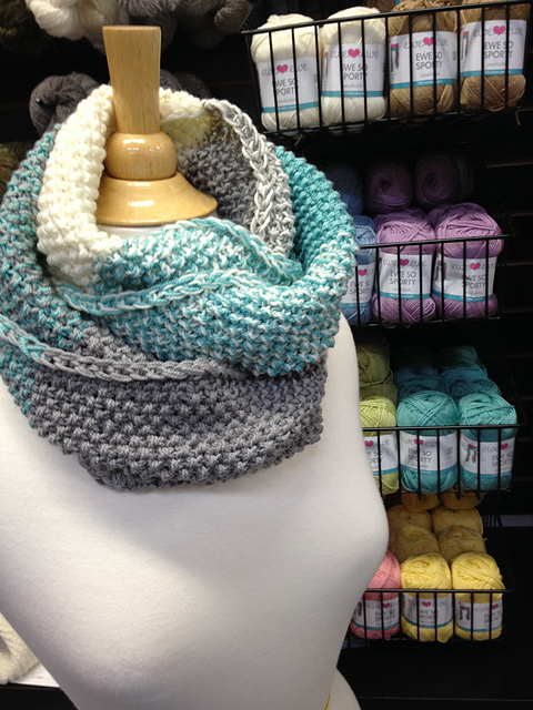 Color Theory Cowl wrapped