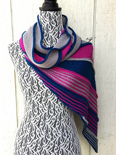 Sidera shawl knitting pattern designed by Anthony Caselena in Ewe So Sporty yarn