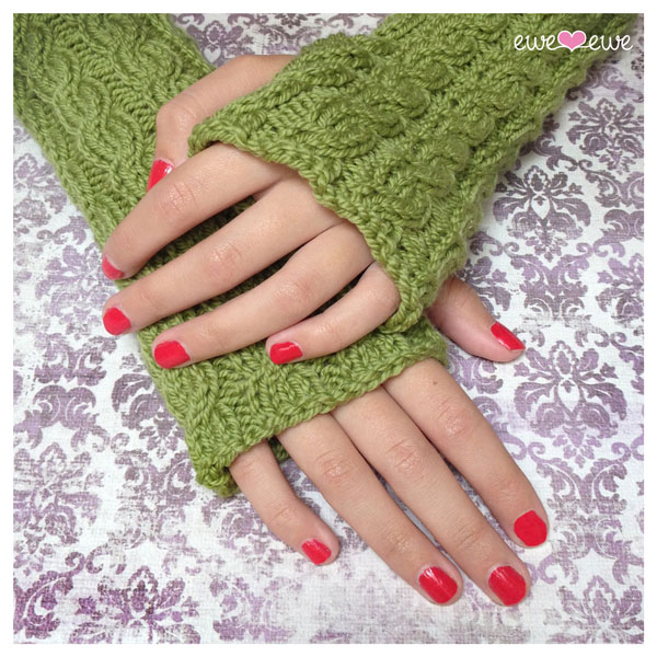 Quick Cable Wrist Warmers Pdf Knitting Pattern Ewe Ewe Yarns