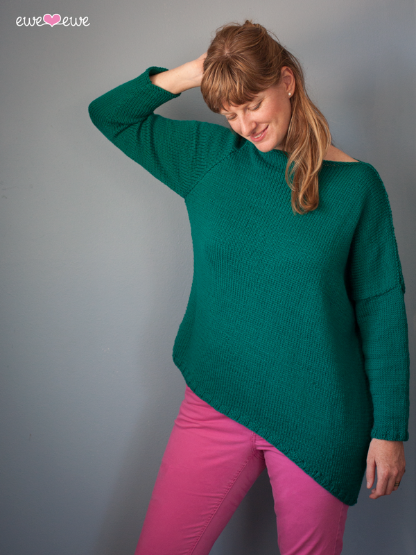 Libby's Boyfriend Sweater PDF Knitting Pattern — Ewe Ewe Yarns