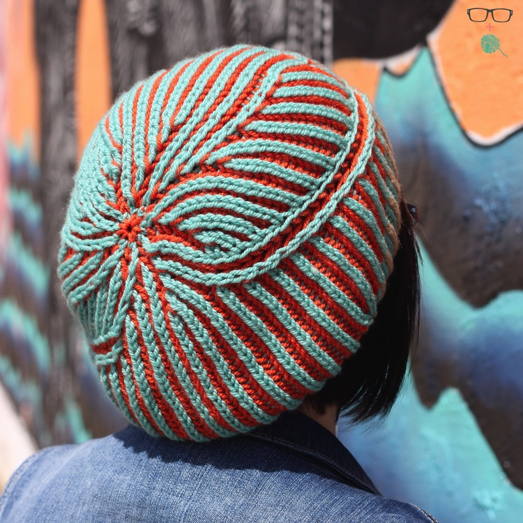 Controlled Chaos brioche hat knitting pattern