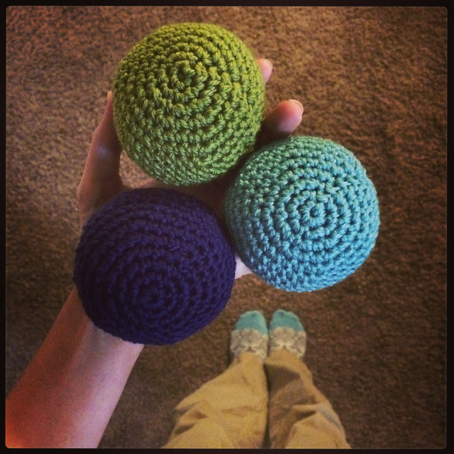 Soft Sphere crochet toy balls pattern by Sarah Jo Burch
