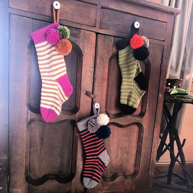 Ryanpagehaas's set of stockings. See on  RaVELRY >