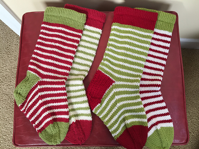 Sharon0213's mix and match set of stockings! See on RaVELRY >