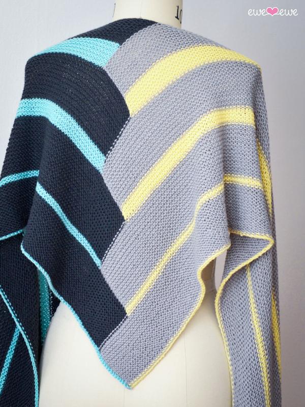 Double Deco Wrap Pdf Knitting Pattern Ewe Ewe Yarns