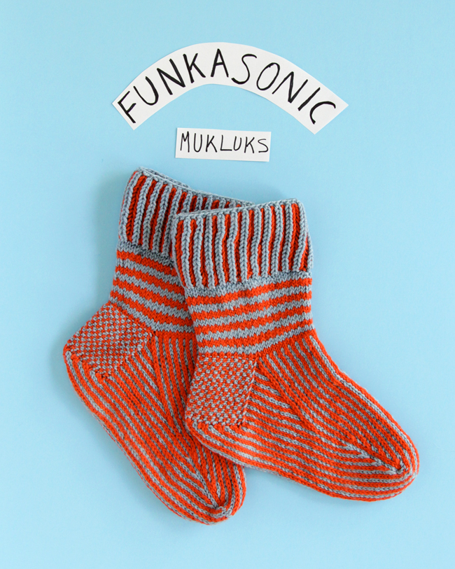 Funkasonic Mukluks in Ewe So Sporty yarn