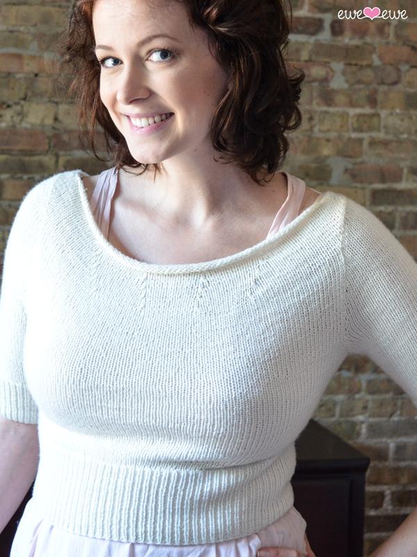 6be4d3233 Rita Hayworth Cropped Sweater PDF Knitting Pattern — Ewe Ewe Yarns
