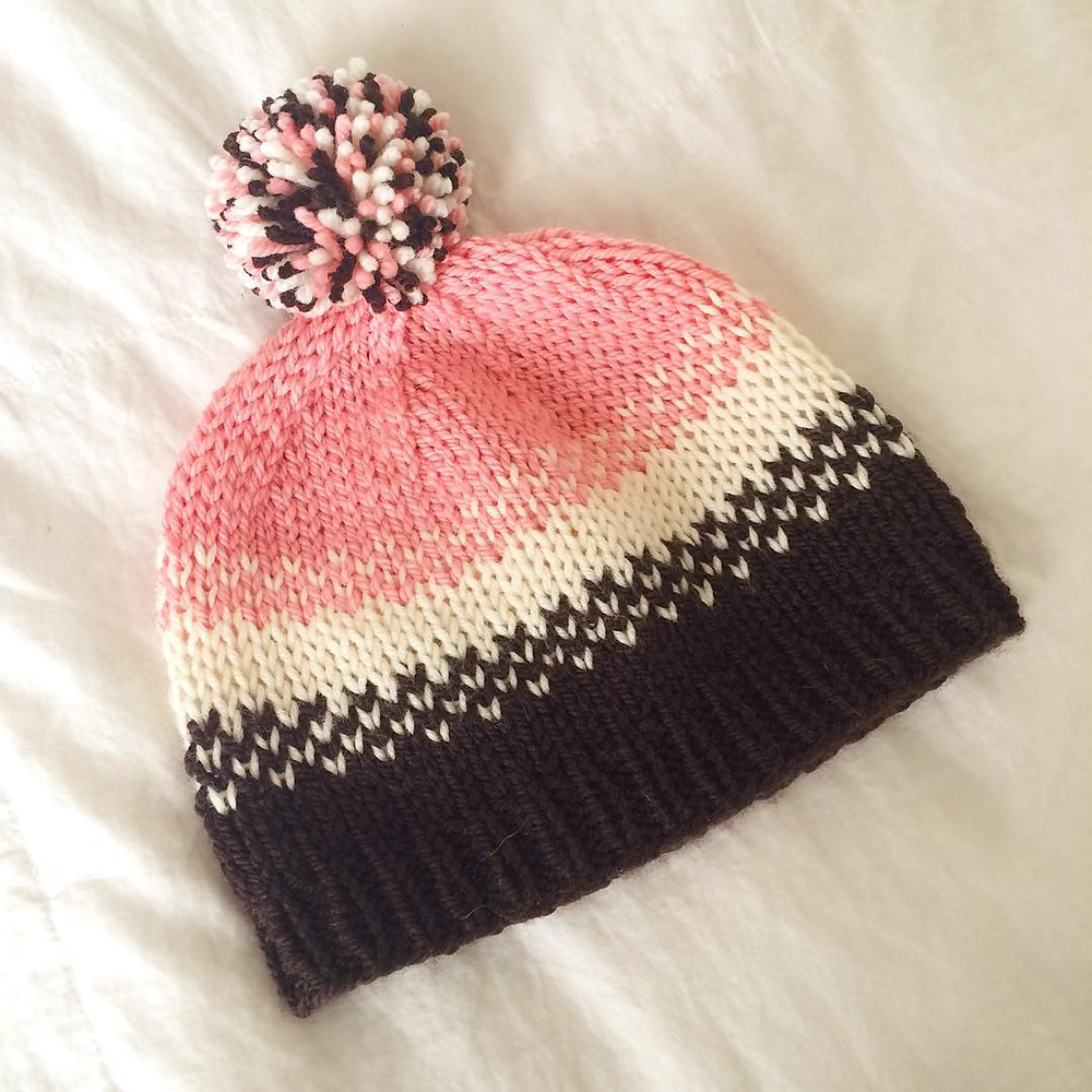 Golden Pear free hat pattern