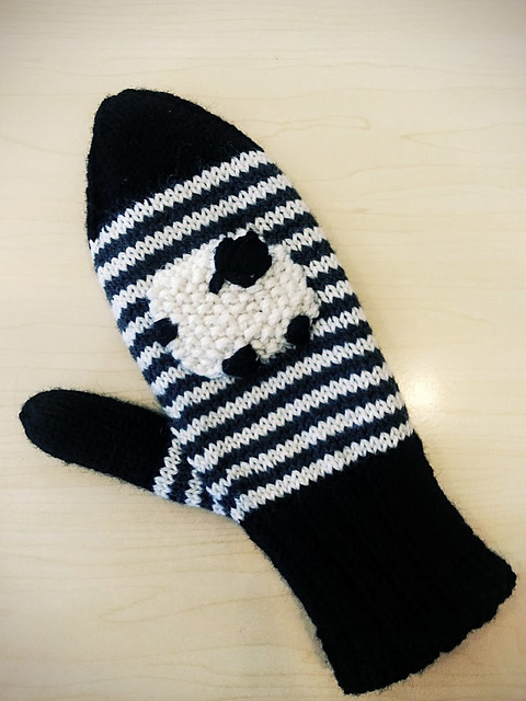 Valais Blacknose Sheep Mittens