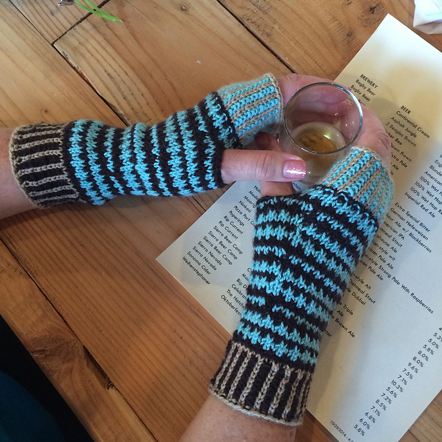 Techie Twosome fingerless gloves