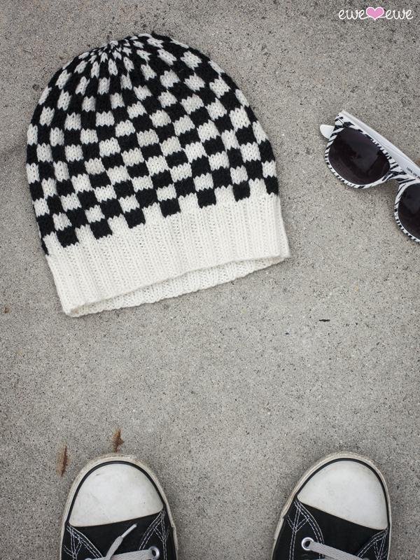 Frontside Flip Pdf Checkerboard Hat Knitting Pattern Ewe Ewe Yarns