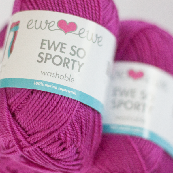 Ewe So Sporty merino yarn