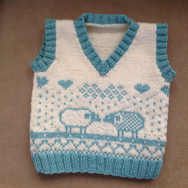 Sheep vest pattern