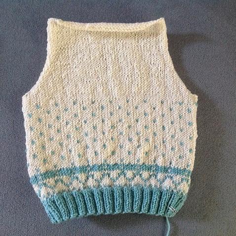 Sheep vest pattern back