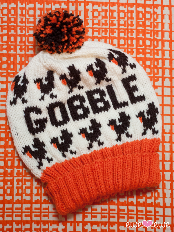 Thanksgiving turkey hat knitting pattern