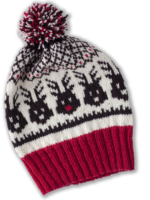 Knitting Patterns For Christmas Hats : Head to the Sleigh! PDF Christmas Hat Knitting Pattern   Ewe Ewe Yarns