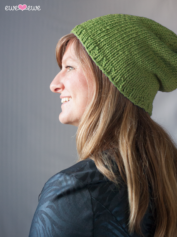 Baa Baa Beanie basic free hat knitting pattern in bulky yarn
