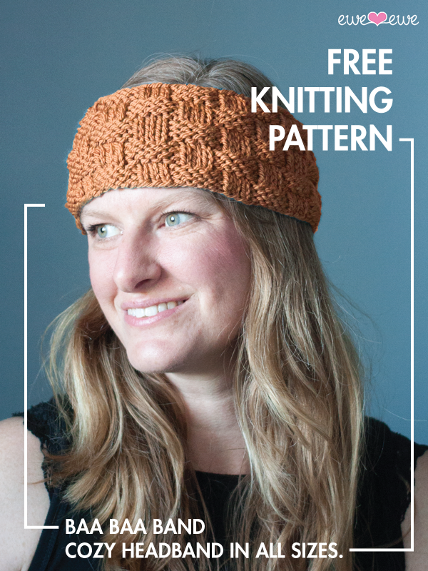 Baa Baa Band Free Headband Knitting Pattern Ewe Ewe Yarns