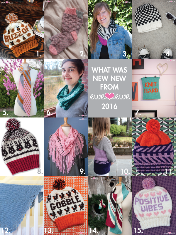 2016 Recap of Knitting Patterns