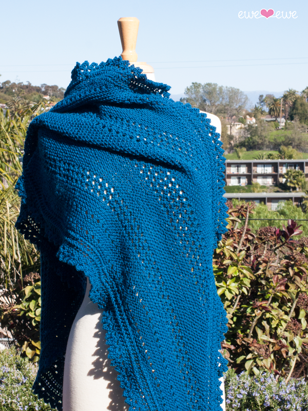 Seabreeze Scarf Pdf Lace Shawl Knitting Pattern Ewe Ewe Yarns