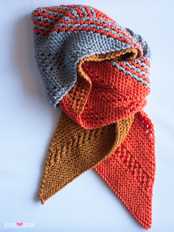 Marmalade Dream  scarf using  Baa Baa Bulky yarn