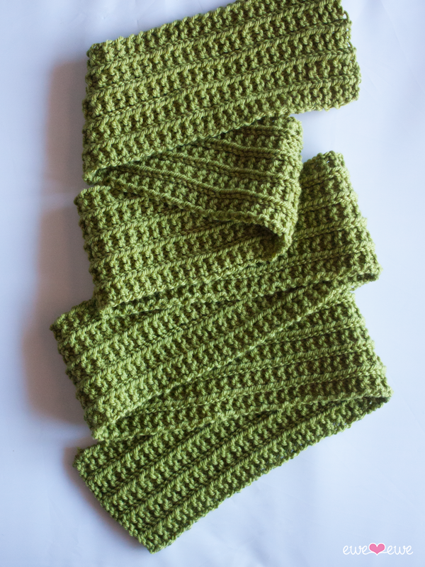 FREE:  Wainscot Scarf  using  Baa Baa Bulky yarn