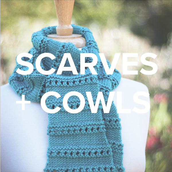 scarves + cowls knitting patterns