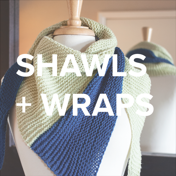 shawls + wraps knitting patterns